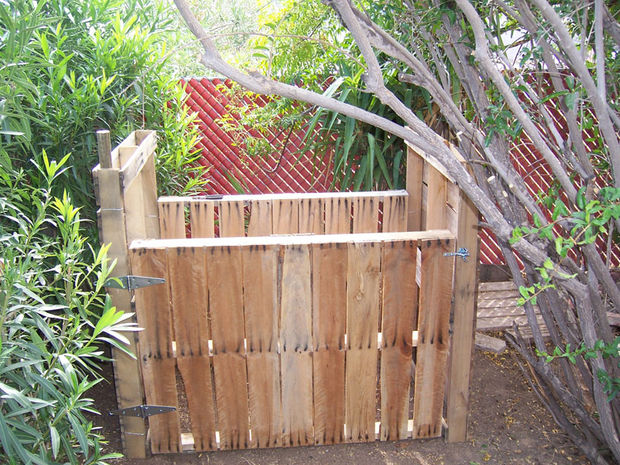 You can build a compost bin from wood pallets