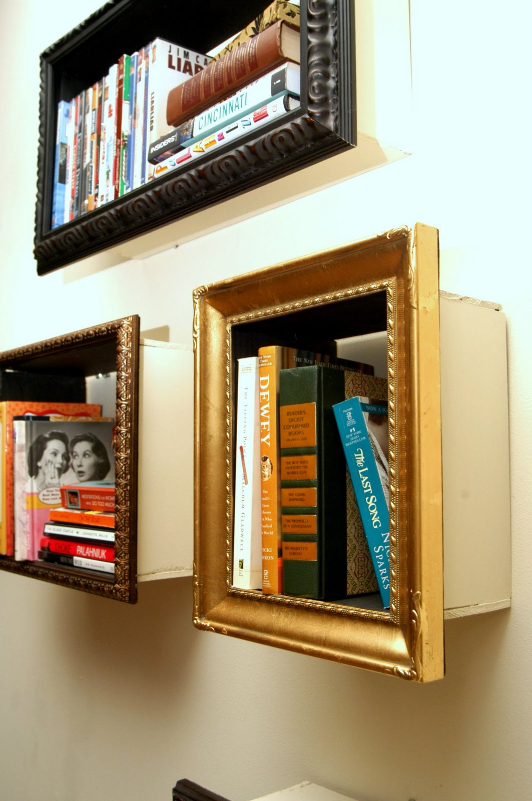 create mini bookshelves
