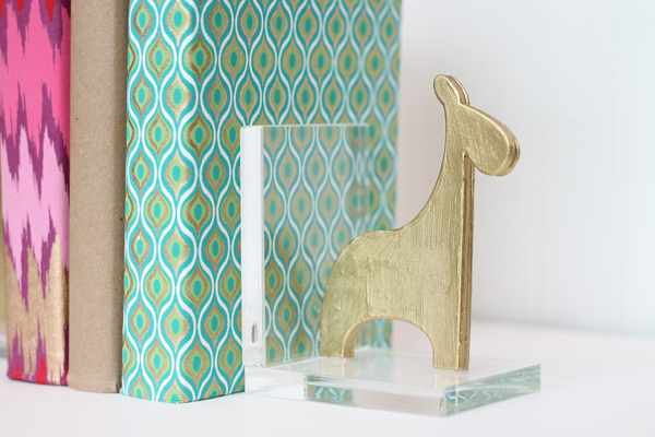create these sleek, modern & cute bookends