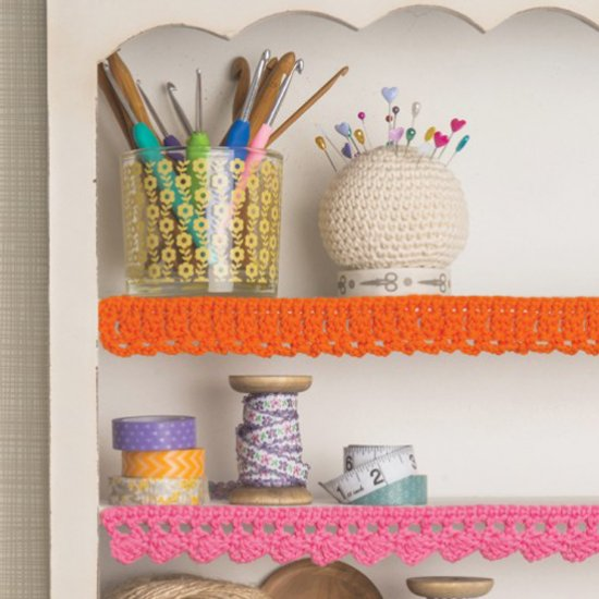 crochet shelf edging