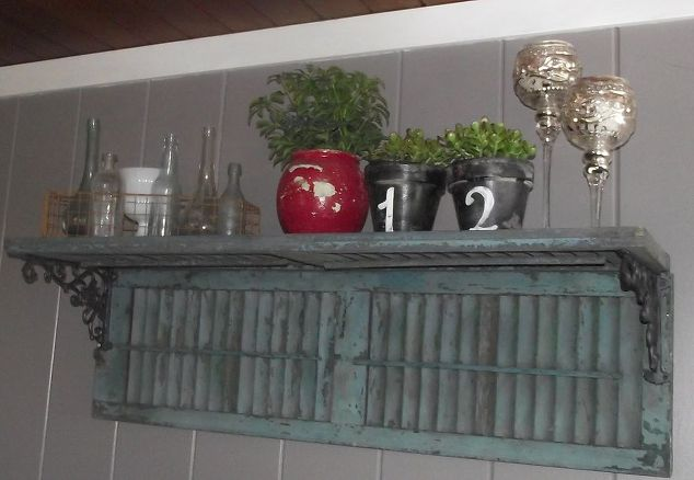 make a shutter shelf