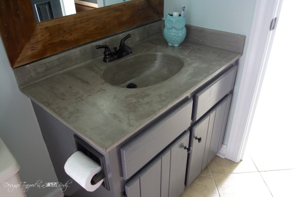 Update Your Outdated Vanity Using Concrete