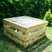 Easy Construction Square Compost Bin