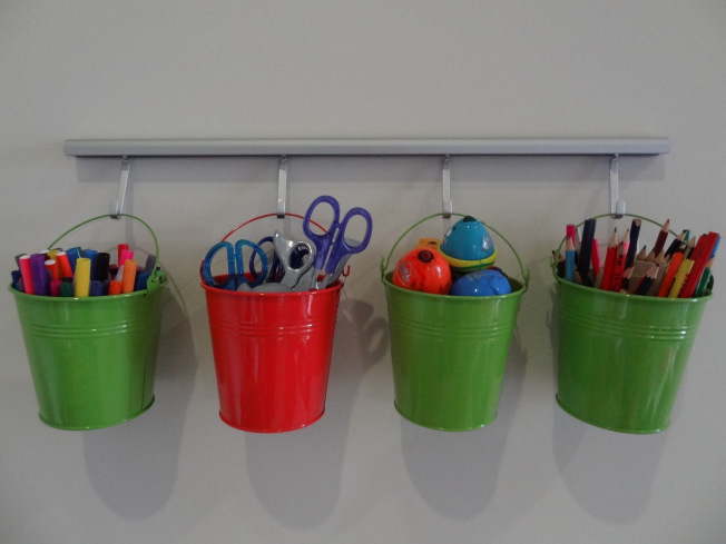 Buckets for Craft Organization