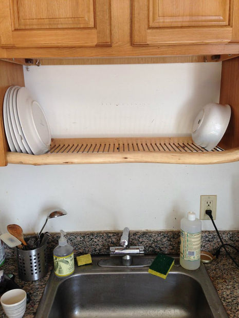 Hang a Dish Rack Over the Sink