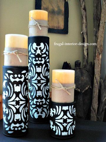Make Candle Pedestals from Upcycled Tin Cans
