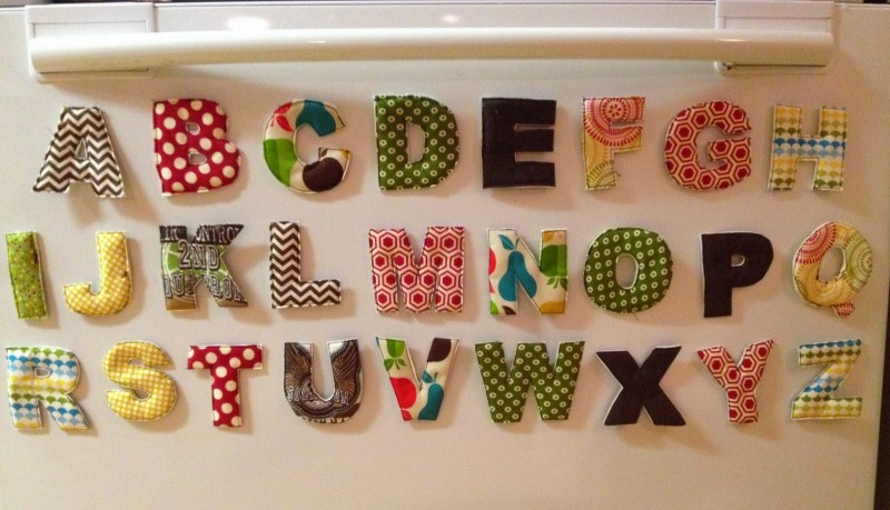 fabric fridge letters