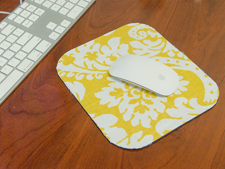 Fabric Scrap Mousepad