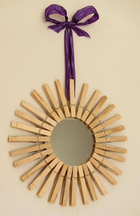 clothespin mirror