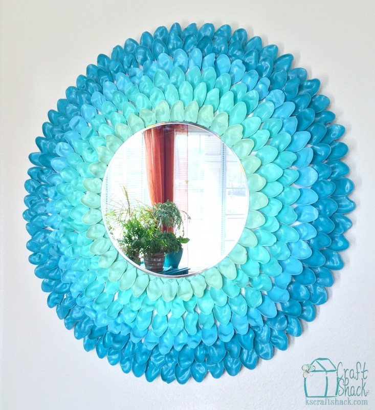 ombre flower mirror