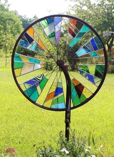 Stained Glass Garden Spinner