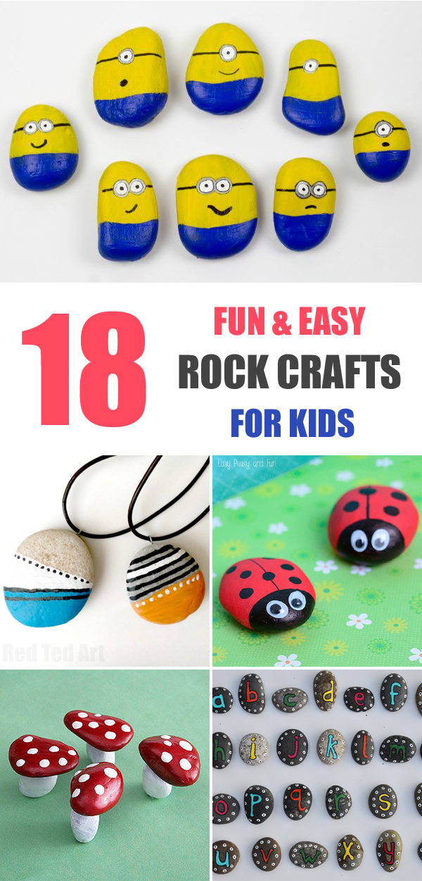 18 Fun and Easy Rock Crafts for Kids