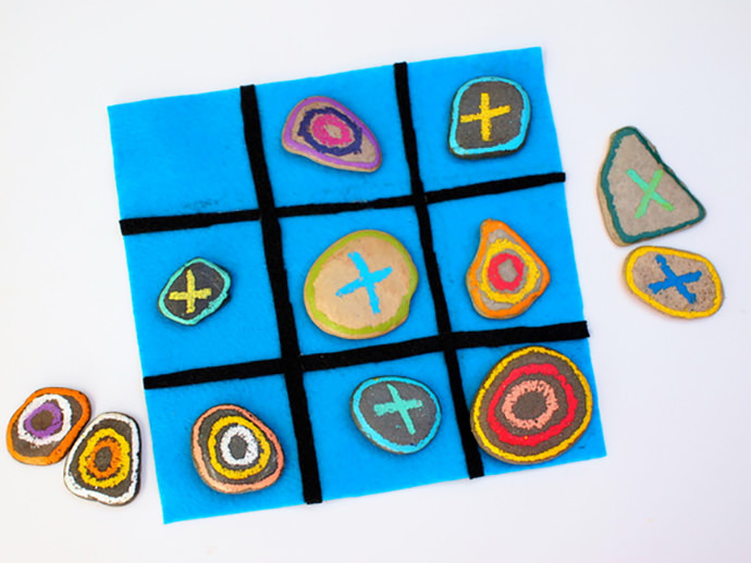 Rock Tic-Tac-Toe Game