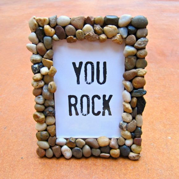 Picture Frame out of Rocks