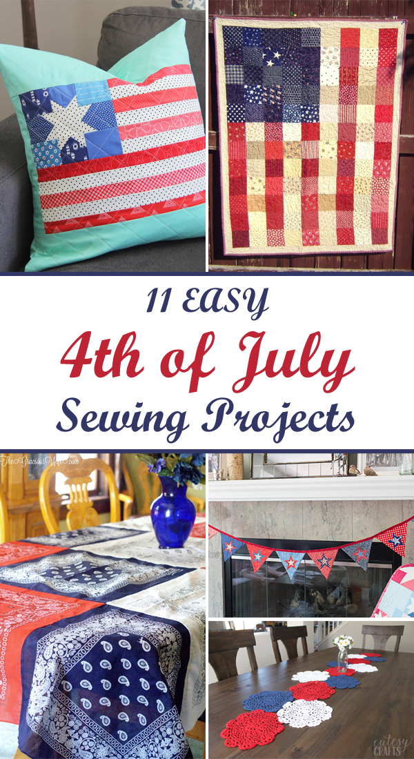 11 Easy 4th of July Sewing Projects