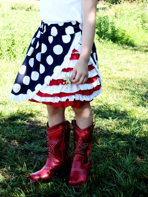 4th of July Ruffle Skirt