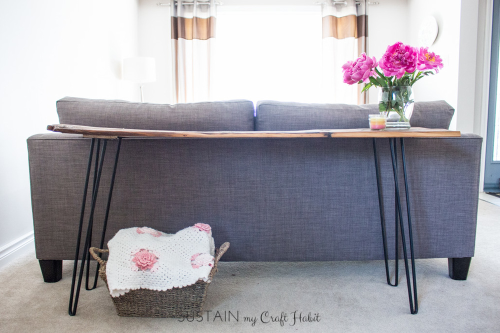 Barn Wood and Hairpin Legs Console Table