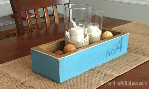 Distressed Wood Crate Centerpiece