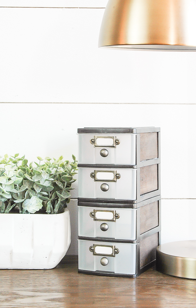 Dollar Store Farmhouse Storage Drawers
