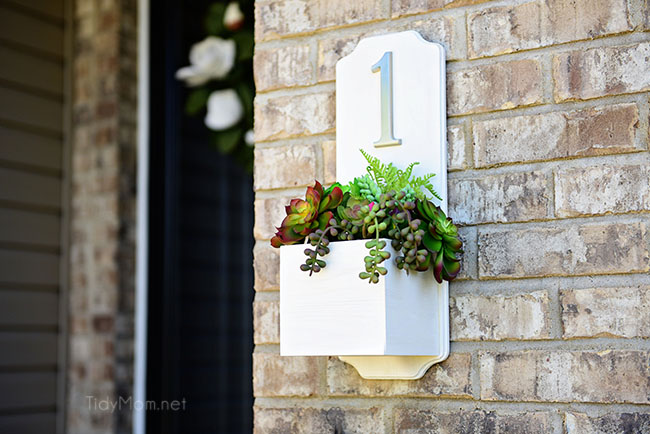 Farmhouse Style Address Planter Box