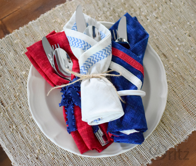 Festive 4th of July Napkins