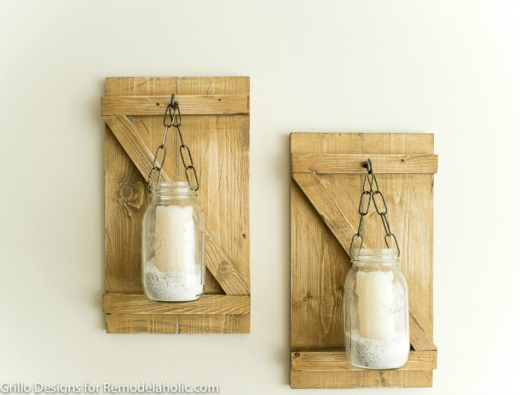 Hanging Mason Jar Candle Holders