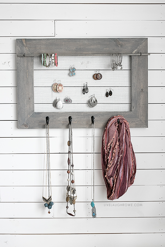 Jewelry Organizer with Farmhouse Charm