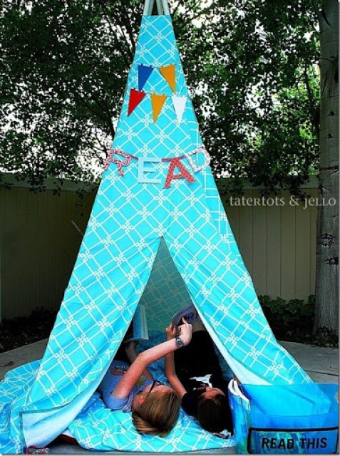 Kids Reading Tent Made of PVC pipes