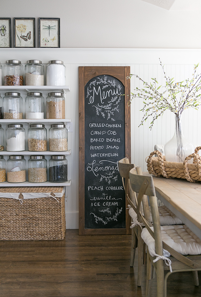 Menu-Chalkboard G Vine Decorating Ideas Farmhouse Kitchen on