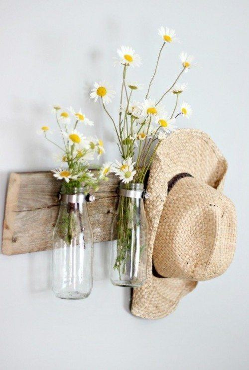 Milk Bottle Floral Holder