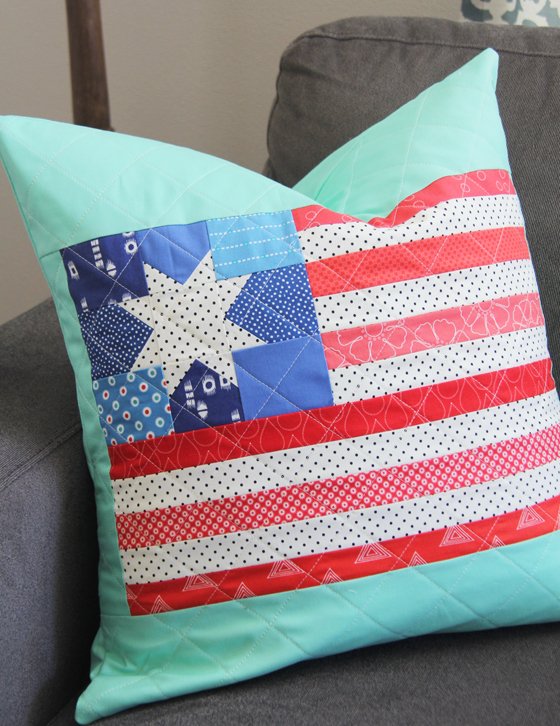 Scrappy Flag Pillow