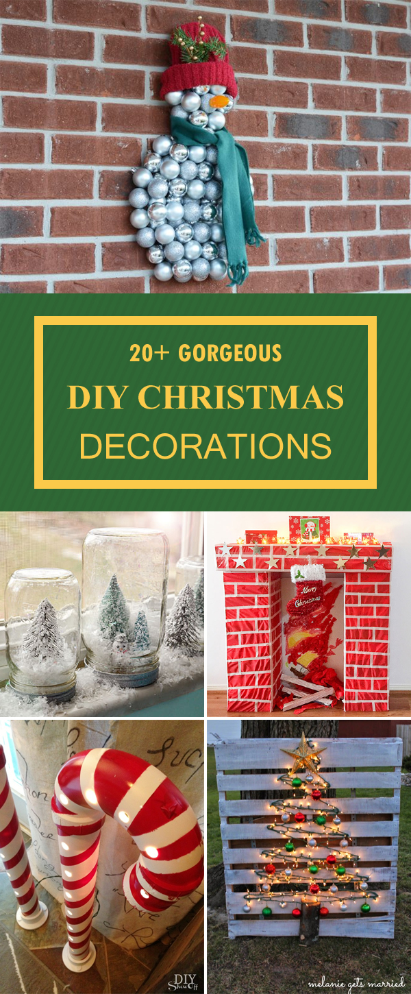 20+ Gorgeous Christmas Decorations You Can Make Yourself