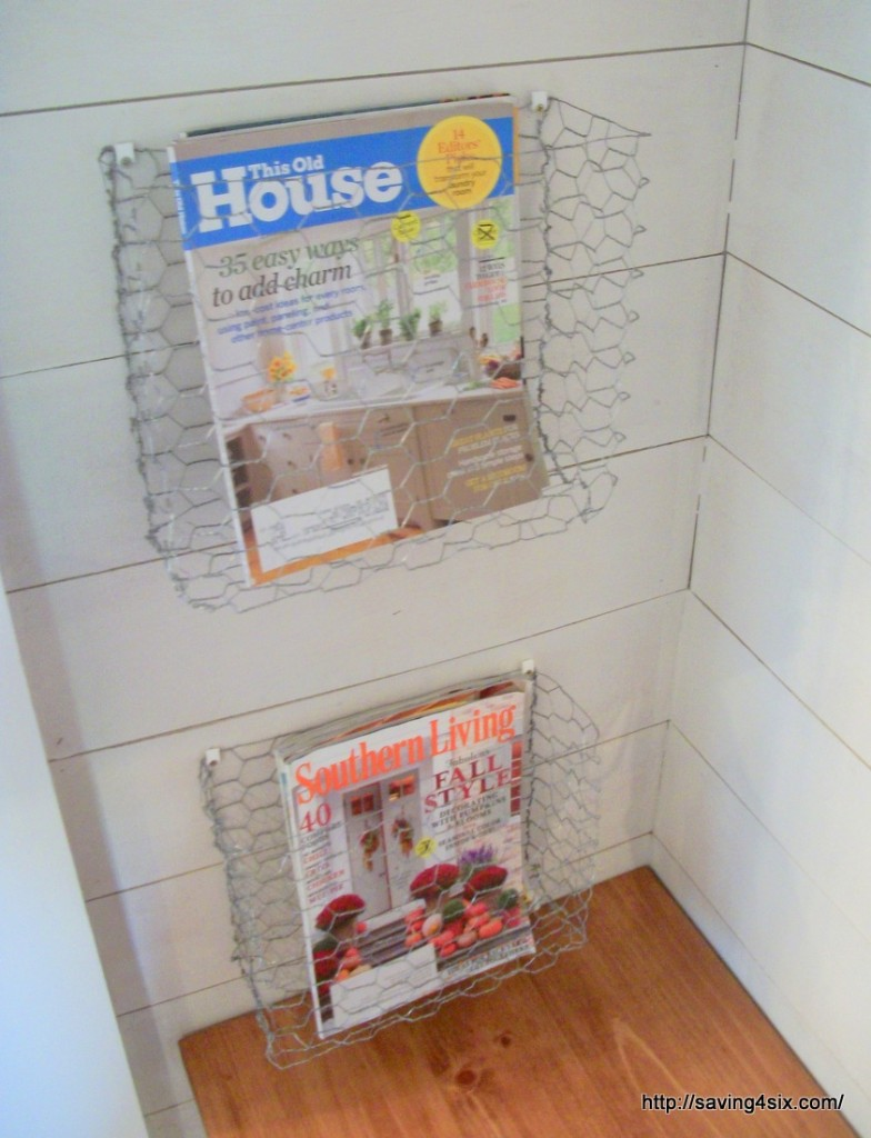 Chicken Wire Magazine Baskets