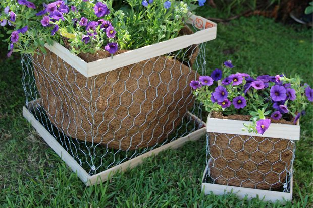 Chicken Wire Planter Box