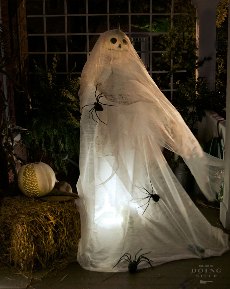 Life Sized Blowing Ghost