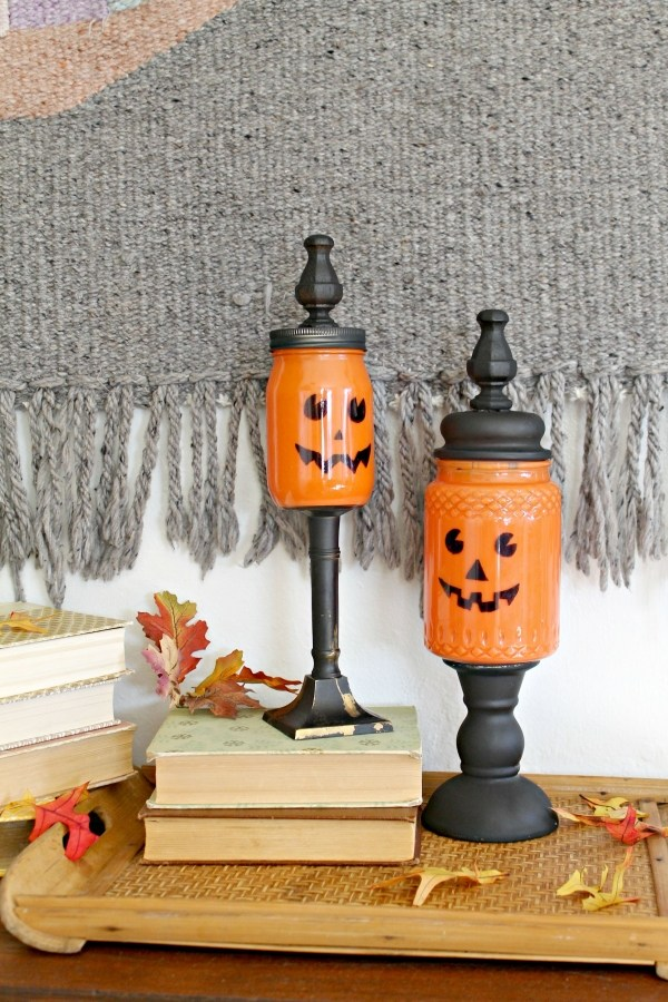 Pumpkin Candy Jars