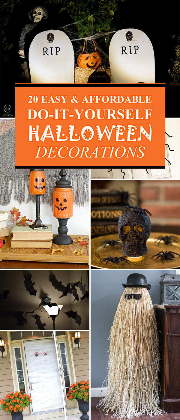 20 super easy affordable diy halloween decorations