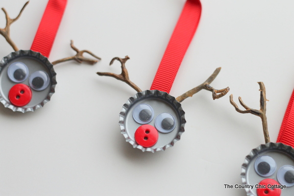 Bottle Cap Reindeer Kids Craft