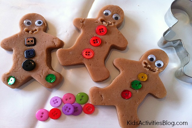 Play Dough Gingerbread Men