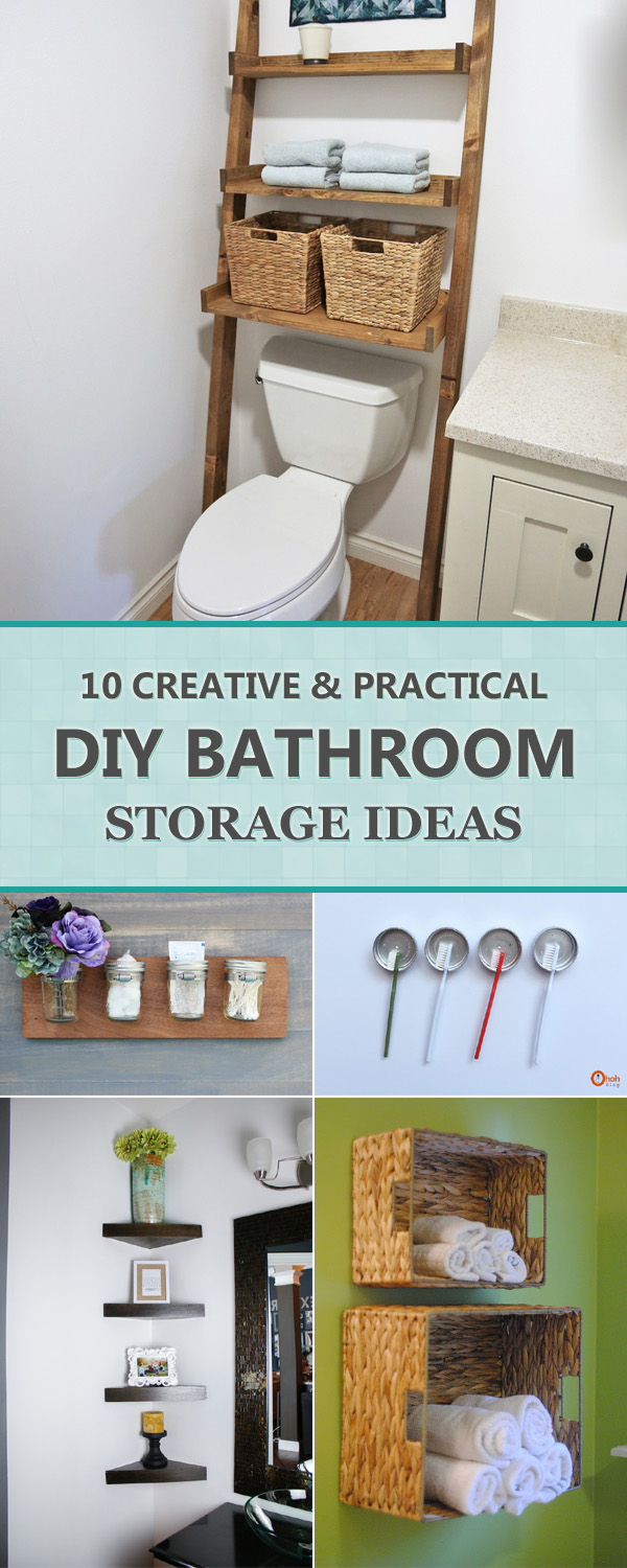 10 Creative And Practical DIY Bathroom Storage Ideas