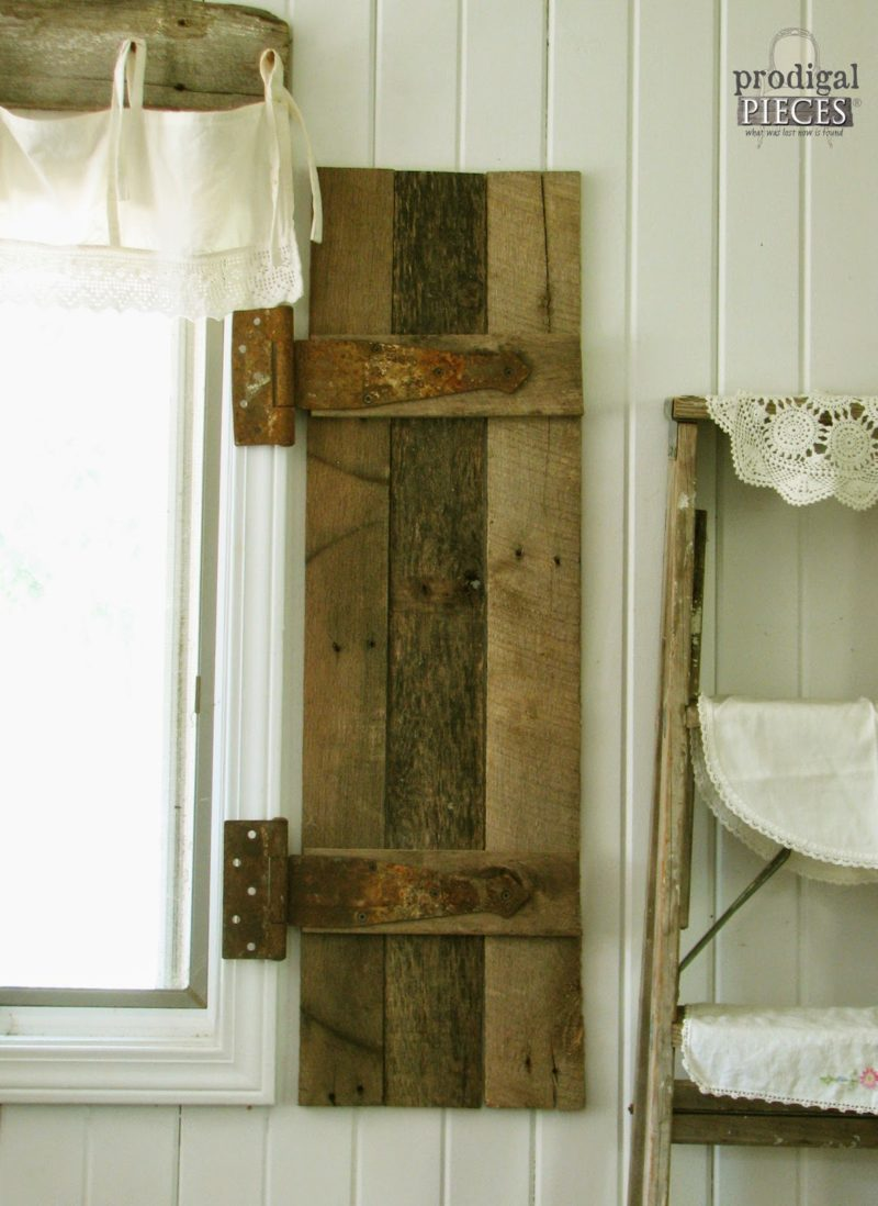Barn Wood Shutters from Pallets
