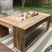 Patio Coffee Table with Drink Cooler