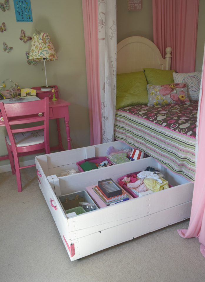 Wood Pallet Under Bed Toy Storage