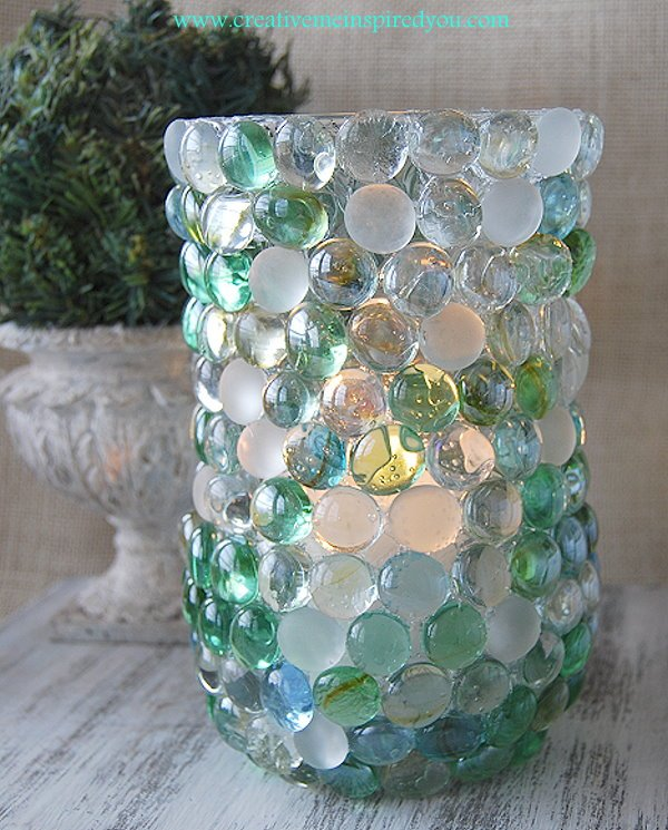Dollar Store Glass Bead Vase