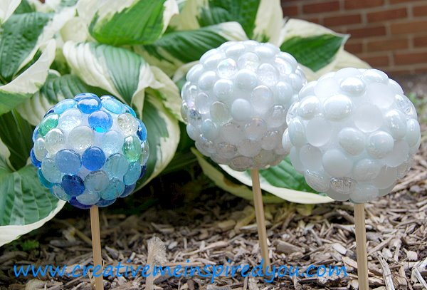 Dollar Store Marble Garden Gazing Stones