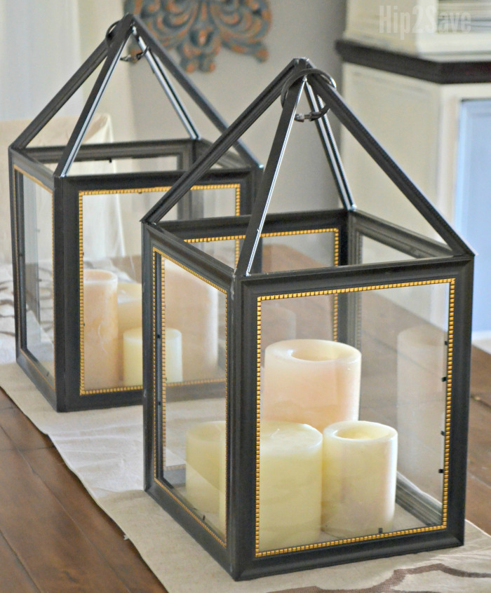 Dollar Tree Picture Frame Lanterns