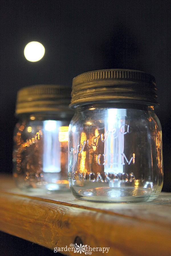 Mason Jar Solar Lamps