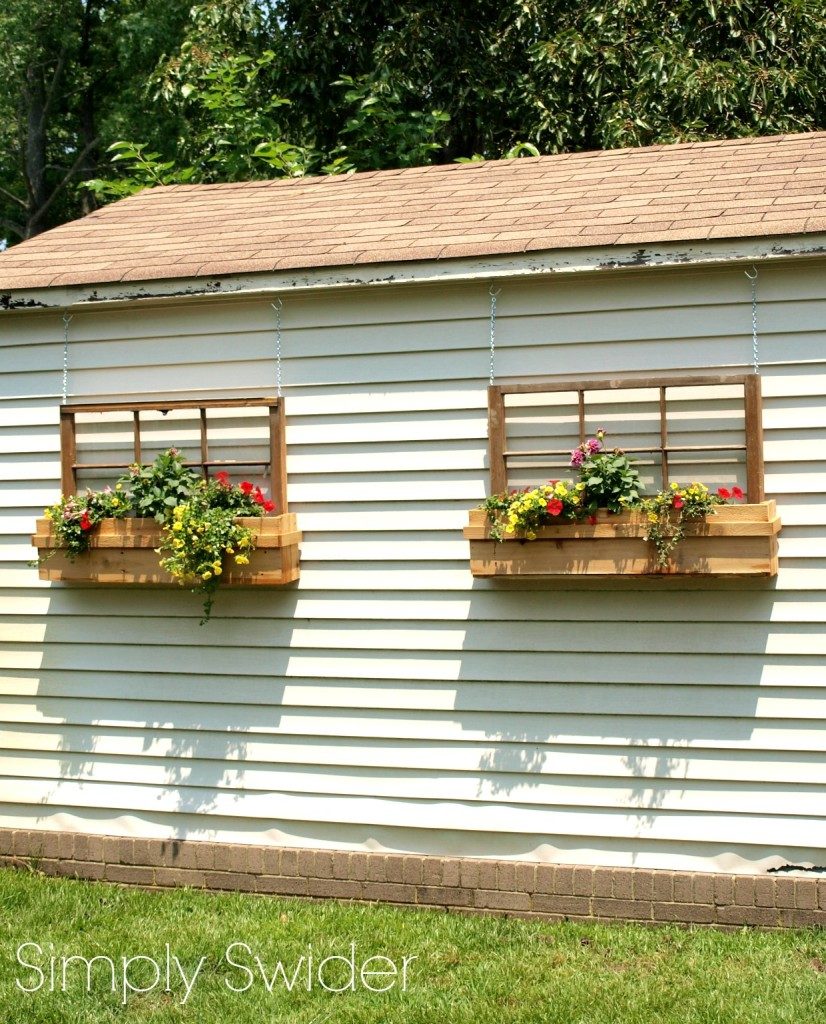 Old Window Upcycled into a Window Box