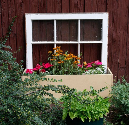 Re-purpose An Old Window Into A Beautiful Planter