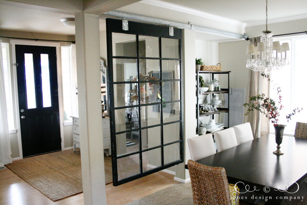 Repurposed Window Room Divider